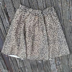 Vintage Skirts - Vintage Flirty & Floral A-Line Full Skirt